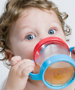 Child with sippy cup at Piedmont Pediatric Dentistry in Charlottesville, Waynesboro and Crozet, VA